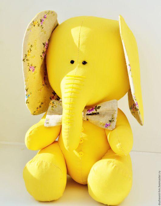 Игрушки животные, ручной работы. Ярмарка Мастеров - ручная работа. Купить Слон Лимон. Handmade. Слон, лимонный, желтый цвет