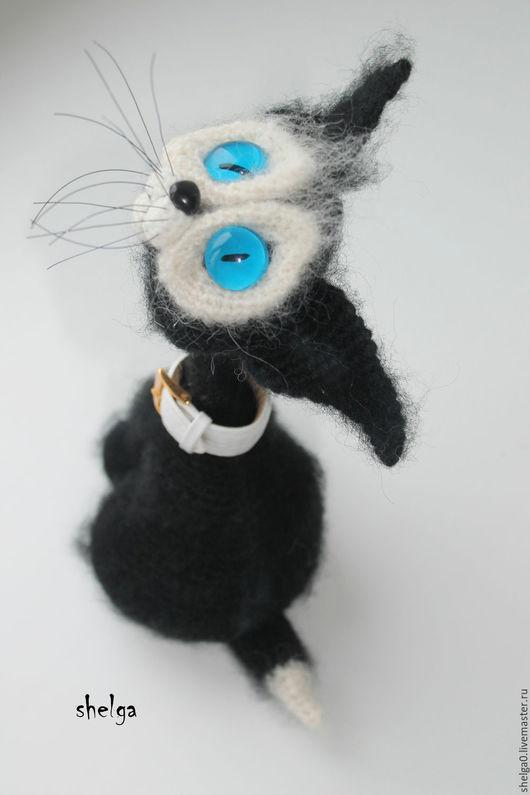 Игрушки животные, ручной работы. Ярмарка Мастеров - ручная работа. Купить Черный кот. Handmade. Черный, подарок, перцева