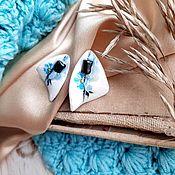 Украшения handmade. Livemaster - original item asymmetrical earring with aquamarine. Handmade.