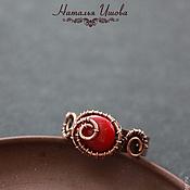 Украшения ручной работы. Ярмарка Мастеров - ручная работа кольцо с красным кораллом. Handmade.