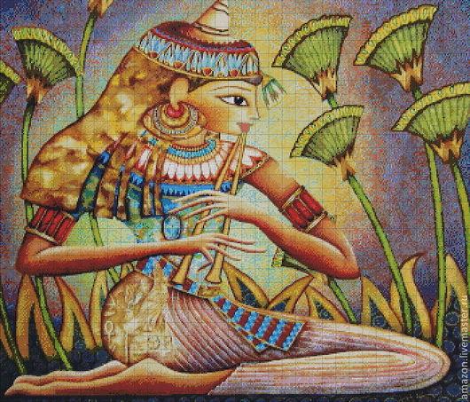 """Вышивка ручной работы. Ярмарка Мастеров - ручная работа. Купить Набор для  вышивания бисером """"Египет"""" по картине  худ. Холли Сьерра. Handmade."""