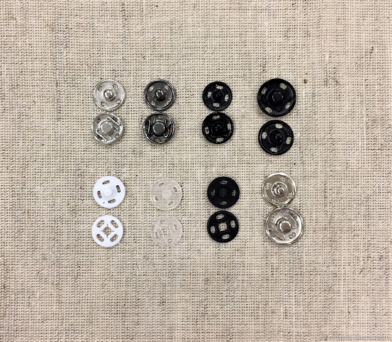 Кнопки пришивные 10-12мм №5 металл и пластик, Кнопки, Балашиха, Фото №1