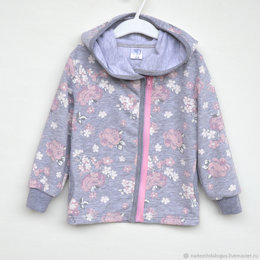 Одежда для девочек, ручной работы. Ярмарка Мастеров - ручная работа. Купить Кофта Нежные розы с глубоким капюшоном. Handmade.