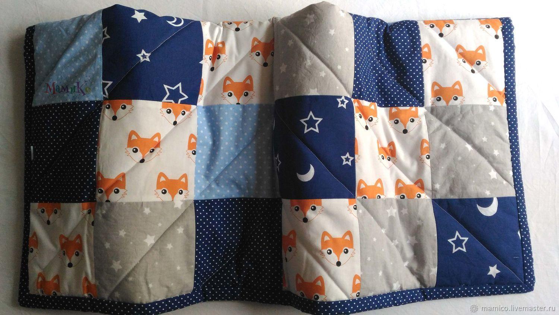 Лоскутное одеяло - Лисята, Одеяла, Луга,  Фото №1