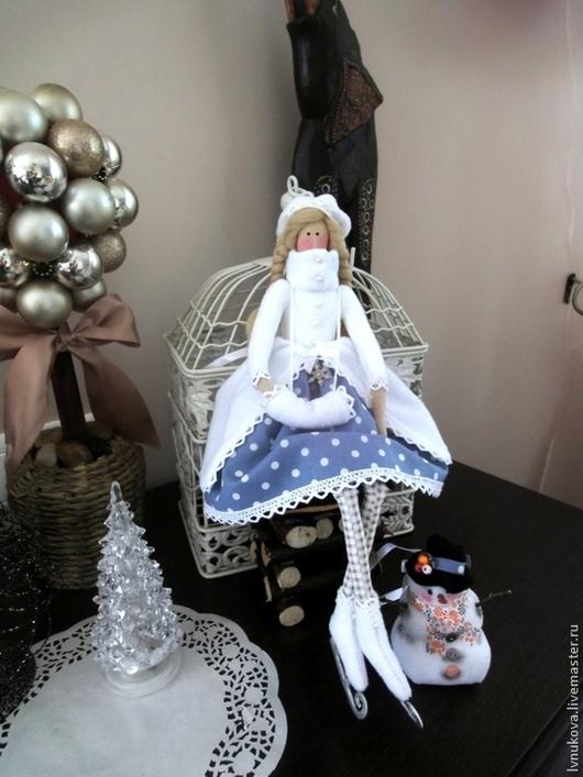 Куклы Тильды ручной работы. Ярмарка Мастеров - ручная работа. Купить Зимняя девочка. Handmade. Белый, тильда ангел