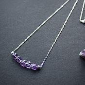 Украшения handmade. Livemaster - original item Necklace with amethyst rhodium \ silver. Handmade.
