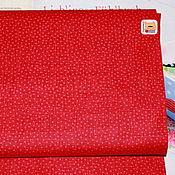 Материалы для творчества ручной работы. Ярмарка Мастеров - ручная работа Ткань мини отрез 20340  Красный в розовый горошек (22х27см). Handmade.