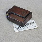 Сувениры и подарки handmade. Livemaster - original item Cigarette case or case for a pack of cigarettes with a lighter. Harley Davidson. Handmade.