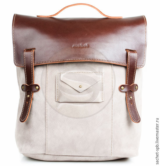 Leather backpack Student sand, Backpacks, St. Petersburg,  Фото №1