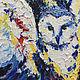 """Животные ручной работы. Ярмарка Мастеров - ручная работа. Купить """"Дора"""". Handmade. Синий, картина в подарок, синева, крылья"""