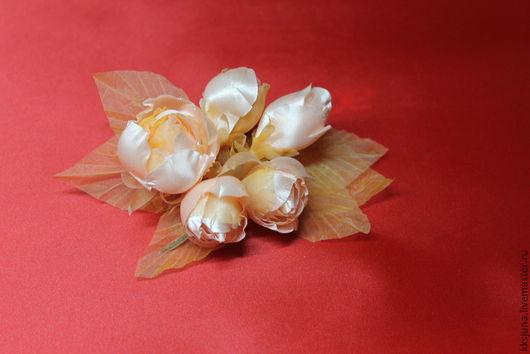 """Броши ручной работы. Ярмарка Мастеров - ручная работа. Купить брошь -цветок """"Персиковое  очарование"""". Handmade. Брошь цветок"""