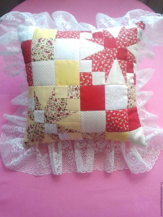 Текстиль, ковры ручной работы. Ярмарка Мастеров - ручная работа. Купить Подушка декоративная. Handmade. Желтый, желтый цвет
