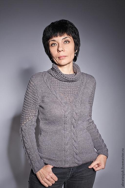 Grey jumper, Sweater Jackets & Sweaters handmade, Kiev, Фото №1