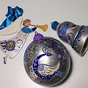 Подарки к праздникам ручной работы. Ярмарка Мастеров - ручная работа Набор ёлочных игрушек с ручной росписью. Handmade.