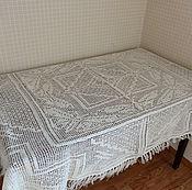 Для дома и интерьера ручной работы. Ярмарка Мастеров - ручная работа Скатерть вязаная. Handmade.