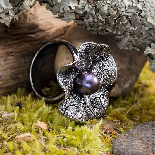 Кольца ручной работы. Ярмарка Мастеров - ручная работа. Купить Кольцо «Орхидея» из серебра. Handmade. Кольцо, серебро ручной работы