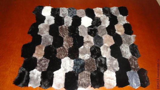 Текстиль, ковры ручной работы. Ярмарка Мастеров - ручная работа. Купить Меховые накидки на стулья. Handmade. Серебряный, мутон