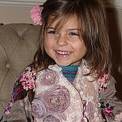 Одежда handmade. Livemaster - original item Felted vest with silk roses. Handmade.