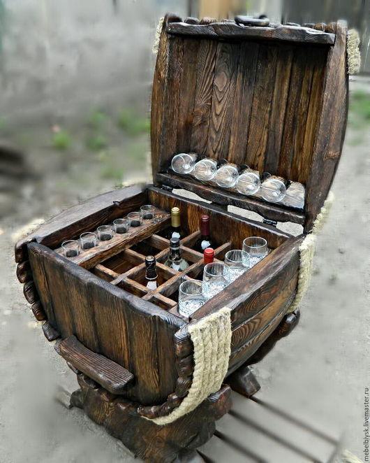 Мебель ручной работы. Ярмарка Мастеров - ручная работа. Купить Мини бар. Handmade. Коричневый, дерево, мебель ручной работы