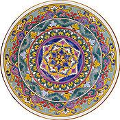 Посуда ручной работы. Ярмарка Мастеров - ручная работа Тарелка декоративная керамическая.400мм.. Handmade.