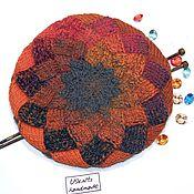 Аксессуары handmade. Livemaster - original item Cap takes entrelac from 100% wool. Handmade.