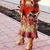 Одежда ручной работы. Ярмарка Мастеров - ручная работа валяная юбка из шерсти ...Весна  в сердце твоем. Handmade.