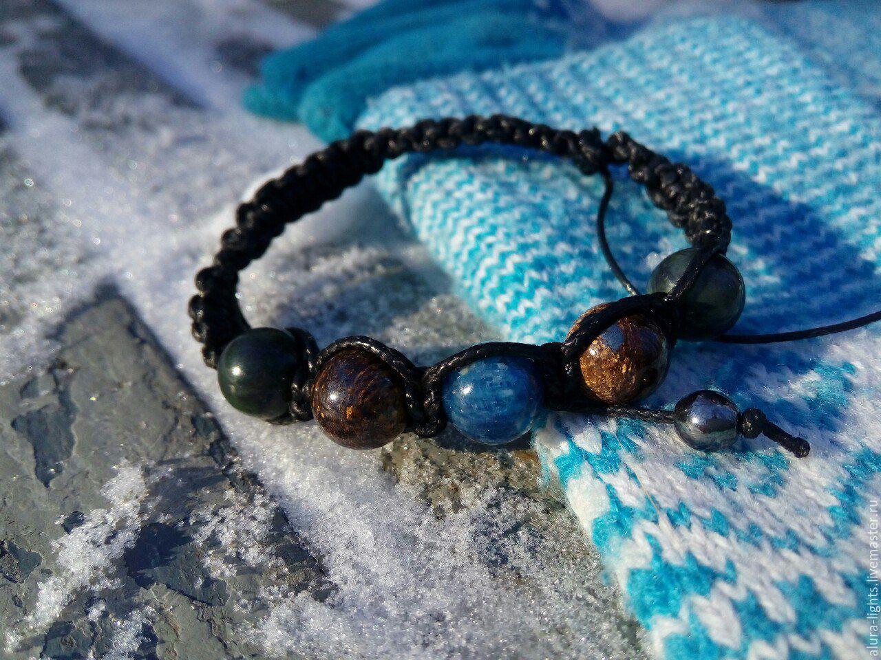 Shamballa bracelet with kyanite, Bronzit, jade 'Wings', Bead bracelet, Moscow,  Фото №1