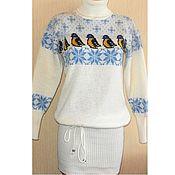 Одежда handmade. Livemaster - original item Dress knitted Bird titmouse. Handmade.