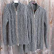 Одежда ручной работы. Ярмарка Мастеров - ручная работа Family look. Пара мужских свитеров ручной вязки на разъёмной молнии.. Handmade.