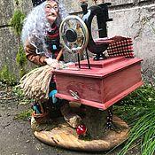 Мягкие игрушки ручной работы. Ярмарка Мастеров - ручная работа Кукла Баба-Яга Швейка. Handmade.