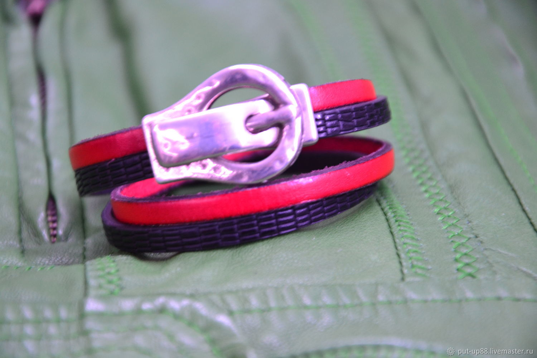 Браслет женский кожаный.классический, Браслет из бусин, Астрахань,  Фото №1