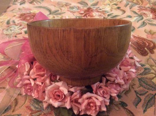 Винтажная посуда. Ярмарка Мастеров - ручная работа. Купить Пиала дерево дуб. Handmade. Коричневый, салатник