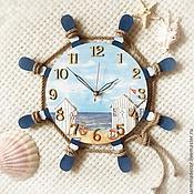 Часы ручной работы. Ярмарка Мастеров - ручная работа Часы настенные в морском стиле. Handmade.