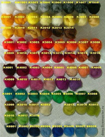 Валяние ручной работы. Ярмарка Мастеров - ручная работа. Купить Кардочес цветной фабрики Klippan-Saule 50 грамм. Handmade.