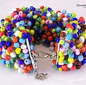Украшения handmade. Livemaster - original item Beaded jewelry Bracelets Colorful mood Beads Gift. Handmade.