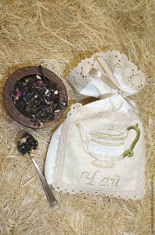 Кухня ручной работы. Ярмарка Мастеров - ручная работа. Купить Мешочек льняной для чая. Handmade. Мешочек, мешок, мешочек для украшений