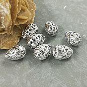Материалы для творчества handmade. Livemaster - original item Bead openwork drop 8х11h2828 mm rhodium plated. South Korea (art. %d%). Handmade.