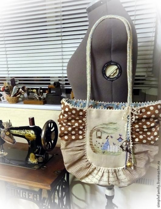 """Женские сумки ручной работы. Ярмарка Мастеров - ручная работа. Купить текстильная эко-сумка """"Jardin en Liberte"""". Handmade."""