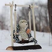 Куклы и игрушки ручной работы. Ярмарка Мастеров - ручная работа Вязаная игрушка мышь. Бабушка Мышь Чайная.. Handmade.
