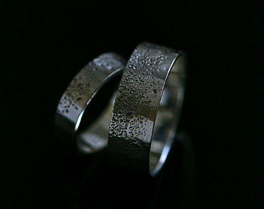 Свадебные украшения ручной работы. Ярмарка Мастеров - ручная работа. Купить Обручальные кольца с градиентной песочной фактурой. Handmade.