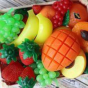 """Мыло ручной работы. Ярмарка Мастеров - ручная работа """"Фрукты"""" мыло, фруктовая корзина. Handmade."""