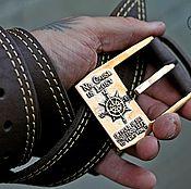 Аксессуары handmade. Livemaster - original item Leather belt with cast buckle