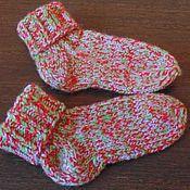 Аксессуары handmade. Livemaster - original item SOCKS Mix knitted warm winter autumn. Handmade.