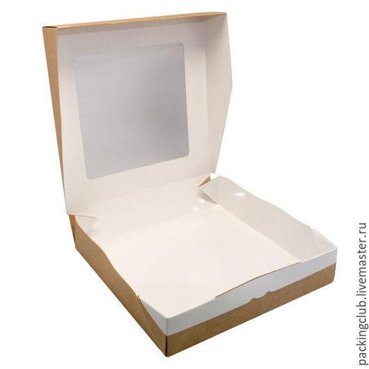 Упаковка ручной работы. Ярмарка Мастеров - ручная работа. Купить ЭКО коробка 200х200х40мм. Handmade. Коричневый, упаковка, упаковка для подарка