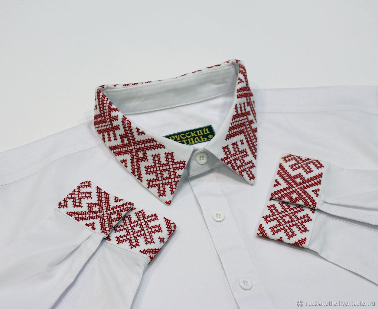Сорочка с обережным орнаментом, Рубашки, Москва, Фото №1