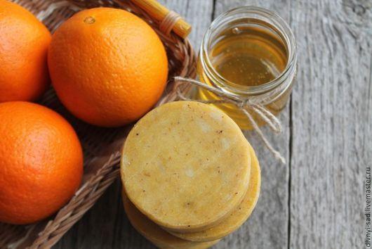 Мыло ручной работы. Ярмарка Мастеров - ручная работа. Купить АПЕЛЬСИНОВЫЙ МЕД Натуральное мыло. Handmade. Оранжевый, апельсиновое мыло