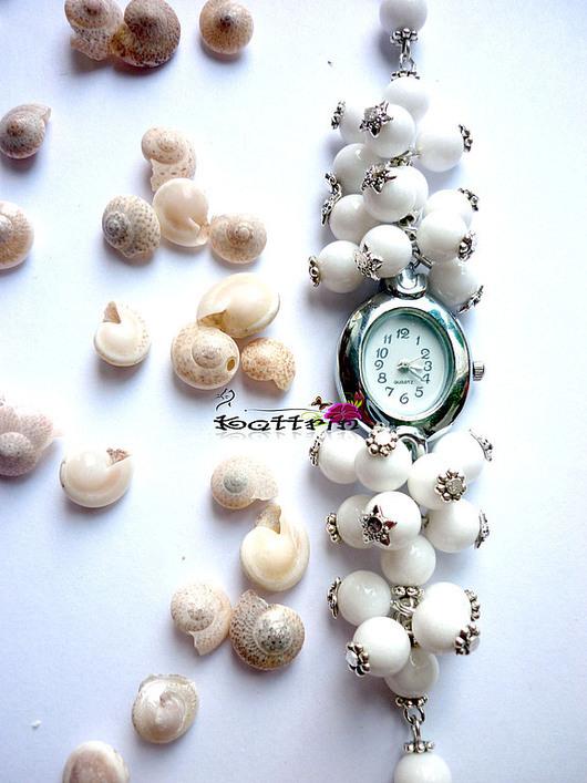 """Часы ручной работы. Ярмарка Мастеров - ручная работа. Купить Часы """"S-Нежность"""". Handmade. Белый, белоснежные часы"""