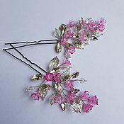 Свадебный салон handmade. Livemaster - original item Set of 2 spalicek. Pink bells. Handmade.
