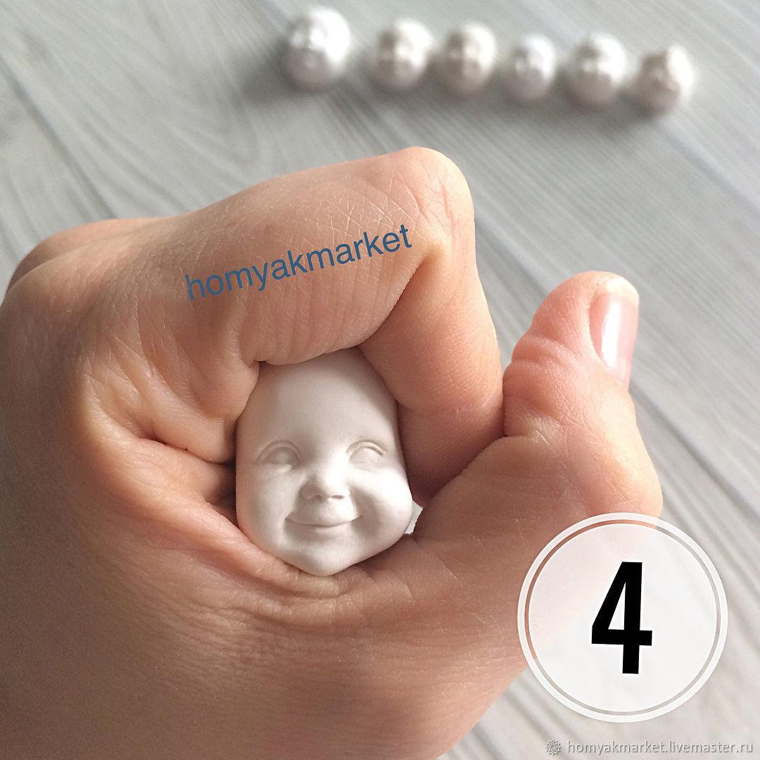Молд №4 (форма для изготовления лица), Заготовки для кукол и игрушек, Москва,  Фото №1
