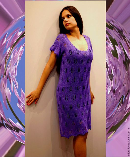 """Платья ручной работы. Ярмарка Мастеров - ручная работа. Купить """"Сирень"""". Handmade. Фиолетовый, вязание для женщин, вязание на машине"""